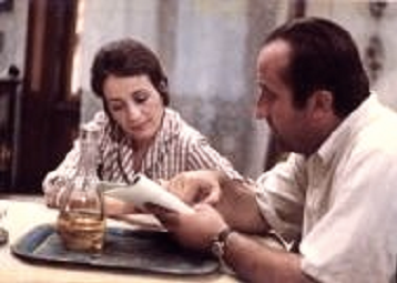 Alexandre Petrovic and Annie Girardot during filming of  It Rains in my Village