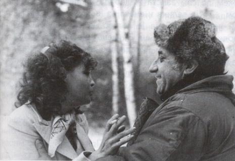 Romy Schneider i Aleksandar Petrović (tokom snimanja fima «Grupni portret sa damom»)