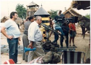 Aleksandar Petrović - Radni fotos tokom snimanja Seoba 1987 godine