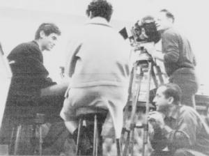 Aleksandar Petrović - snimanje filam DANI Ljubiša Samardžić, sleđa Olga Vujadinović i snimatelj Aleksandar Petković