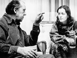 Heinrich Böll u razgovoru sa Romy Schneider