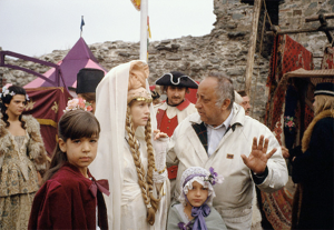 Izabel Iper (Isabelle Huppert) i Aleksandar Petrović (snimanje scene na vašaru)