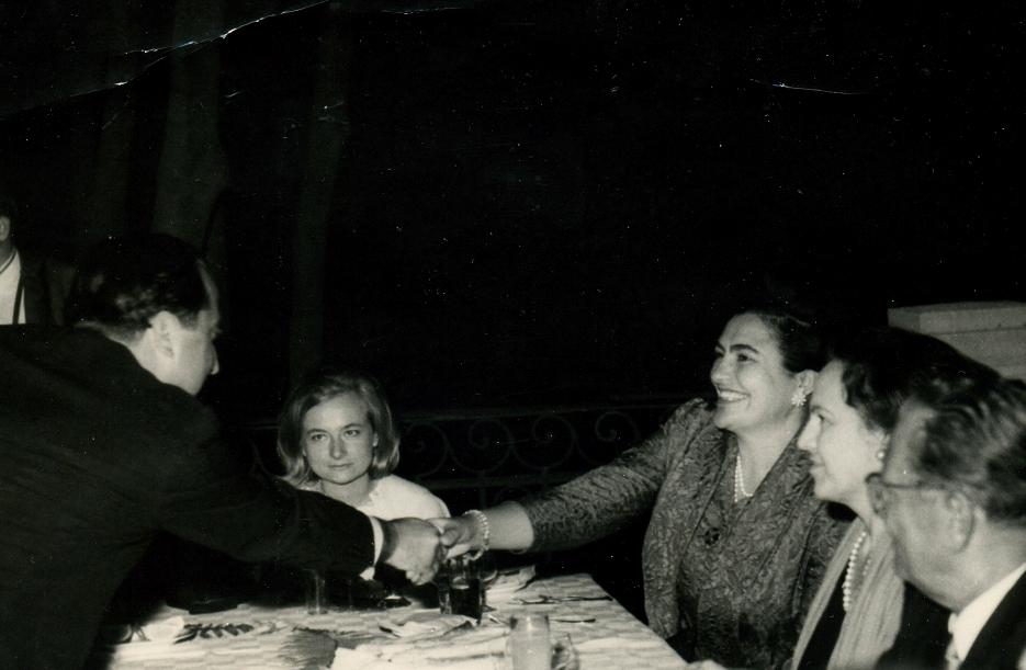 Aleksandar Petrović na Brionima (rukovanje sa Jovankom Broz, Josip Broz prvi sdesna)